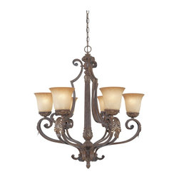 """Designers Fountain - Designers Fountain Grand Palais Traditional Chandelier X-GBV-68679 - Grandiose in style and size, the Grand Palais collection with it's curvaceous scrolls, hand carved appointments and intricate iron work, is the essence of worldly sophistication and classic design. Finished in """"Venetian Bronze"""" with Gold highlights and """"Fresco Beige"""" finished glass shades."""