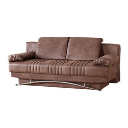 Istikbal - Fantasy Sofa Sleeper in Chocolate - This Contemporary Fantasy Sofa Bed In ChocolateFinish will give your living room the comfort you have been looking for. This Versatile, functional and convertible sofa can be transformed into a bed in a few seconds.
