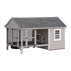 Fifthroom - 6 x 10 Dura-Temp Duck House with Small Pond -