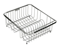 """Elkay - Elkay LKWERBSS Stainless Steel Wire Rinse Basket from the Elkay Series - Every rinse basket and bottom grid is custom designed to fit the shape and geometry of the Elkay sink bowl they are being placed inside. In addition all rinse baskets come with a coordinating plate rack, and a utensil caddy is also available from Elkay. All of the Elkay wavy wire elements are made from a non-corrosive, heavy-gauge stainless steel with a bright, polished finish. The functionality and durability paired with the eye-catching wavy wire design make these accessories the perfect complement to any Elkay sink.  Rinsing Basket Expandable: Fits bowl size(s): 13-1/2"""" x 15"""" to 20"""" x 18"""""""