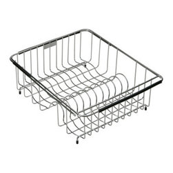 "Elkay - Elkay LKWERBSS Stainless Steel Wire Rinse Basket from the Elkay Series - Every rinse basket and bottom grid is custom designed to fit the shape and geometry of the Elkay sink bowl they are being placed inside. In addition all rinse baskets come with a coordinating plate rack, and a utensil caddy is also available from Elkay. All of the Elkay wavy wire elements are made from a non-corrosive, heavy-gauge stainless steel with a bright, polished finish. The functionality and durability paired with the eye-catching wavy wire design make these accessories the perfect complement to any Elkay sink.  Rinsing Basket Expandable: Fits bowl size(s): 13-1/2"" x 15"" to 20"" x 18"""