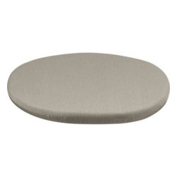 Calypso Sunbrella® Stone Swivel Lounge Chair Cushion - Round cushion in stone fits our Calypso chair perfectly, adding plush comfort in fade- and mildew-resistant Sunbrella acrylic.