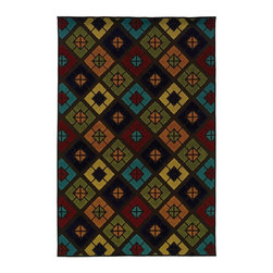 "Oriental Weavers - Indoor/Outdoor Lagos 7'10""x10'10"" Rectangle Brown-Multi Area Rug - The Lagos area rug Collection offers an affordable assortment of Indoor/Outdoor stylings. Lagos features a blend of natural Brown-Multi color. Machine Made of Polypropylene the Lagos Collection is an intriguing compliment to any decor."