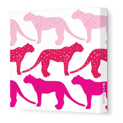 Avalisa - Animal - Cheetah Stretched Wall Art, 12cm x 12, Pink Hue - Who said cheetahs never win? This winning wall hanging comes in your choice of color combinations and sizes so you can hang it easily with pride. Snap this one up. Cheetahs move pretty fast.