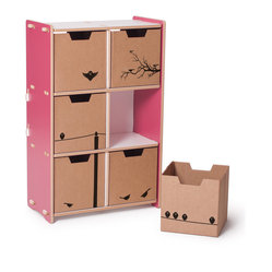 Cubby Bookshelf, Pink and White
