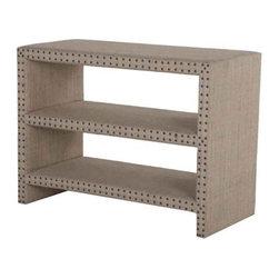 NOIR - NOIR Furniture - Burlap Shelf Table - GTAB276 - Burlap Collection Table