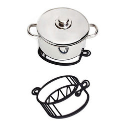 Sketch Trivet, Pot - These sketch trivets will bring an artistic touch to your table.