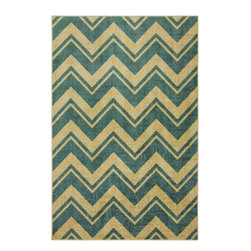 Mohawk Home - Mohawk Strata Lascala Chevron Stripe Medium Blue Contemporary 8' x 10' Rug - The classic chevron design has been rejuvenated with modern colors and a durable construction.  Create a pop of color or a dynamic focal point with this contemporary design. For decades, Mohawk has been dedicated to making superior quality area and accent rugs that are manufactured right here in the United States.  Packed with performance these rugs offer durability paired with beauty and affordability. You can instantly transform any room in your home with one of our luxurious, chic and durable tufted rugs.