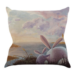 """Kess InHouse - Rachel Kokko """"A New Perspective"""" Throw Pillow (16"""" x 16"""") - Rest among the art you love. Transform your hang out room into a hip gallery, that's also comfortable. With this pillow you can create an environment that reflects your unique style. It's amazing what a throw pillow can do to complete a room. (Kess InHouse is not responsible for pillow fighting that may occur as the result of creative stimulation)."""