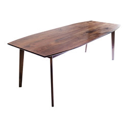 Modercre8ve - The Santa Monica: Solid Black Walnut Dining Table, Mid Century Modern - Classic midcentury modern lines, married with crisp clean details in solid black walnut from one of my original designs.