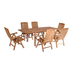 Teak Extension Table (approx 8ft) -