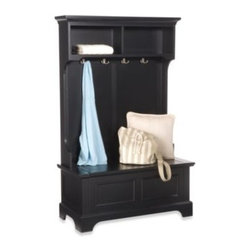Home Styles - Home Styles Bedford Hall Tree and Storage Bench - Upgrade your storage style. Filled with charm and extra convenient space, the Bedford hall tree and storage bench is a fabulous addition to any home.