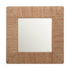 Square Braided Sea Grass Mirror
