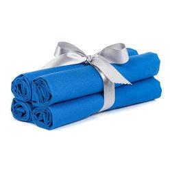 "BH Decor - Solid Deep Blue Table Linen Napkins ( Set of 4 ) - - 20"" square"