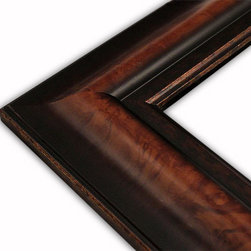 The Frame Guys - Wide Walnut Black/Copper Picture Frame-Solid Wood, 12x16 - *Wide Walnut Black/Copper Picture Frame-Solid Wood, 12x16