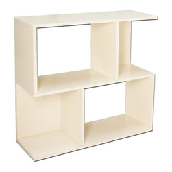 Way Basics - Soho Shelf, White - This shelf system puts the fun back in functional. Use it for storage or display, as a bookcase, bar or room divider. Made from recycled paper, it fits together with adhesive strips, so no tools are required. Plus it's free of formaldehyde and VOCs, making it the perfect green solution for your organizational needs.
