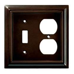 Liberty Hardware - Liberty Hardware 126381 Wood Architectural WP Collect 4.96 Inch Switch Plate - The Liberty Architectural Wood 2-Gang Espresso Switch/Duplex Combination Wallplate is made from MDF for durability and houses 1 switch and 1 duplex outlet. Mounting hardware is conveniently included. Width - 4.96 Inch, Height - 4.9 Inch, Projection - 0.4 Inch, Finish - Espresso, Weight - 0.22 Lbs.