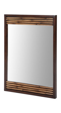 Xylem - Bambu Dark Bamboo Bathroom Mirror - 26W x 36H in. - 514820 - Shop for Bathroom Mirrors from Hayneedle.com! No bathroom is complete without a mirror and the Bambu Dark Bamboo Bathroom Mirror - 26 in. is the ideal way to finish your refined modern design. The Asian-inspired look of bamboo beautifully frames the gleaming glass mirror providing a textural contrast that perfectly coordinates with the rest of the Bambu collection. It's just the right touch.About XylemDesigning assorted and diverse groups of bathroom vanities faucets mirrors and sinks in classic and contemporary styles sets Xylem apart from the competition. With a huge selection to choose from they are able to present chic bathroom styles that are both fashionable and functional. Creating original products and designs with quality craftsmanship the people at Xylem are inclined offer exclusive bath furniture fixtures countertops and fittings to their customers at an affordable price while providing outstanding customer care.