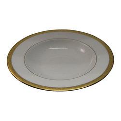 Lenox - Lenox Landmark Gold  Rim Soup Bowl - Lenox Landmark Gold  Rim Soup Bowl