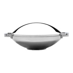"""Berghoff - Berghoff Neo Covered Wok 14"""" - Neo 14 1/4"""" Covered Wok is part of a award winning designer line; modern and functional design. Durable 18/10 stainless steel, 0.8mm wall thickness. Suitable for all heat sources including induction"""