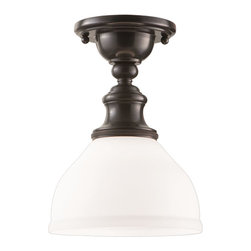 Hudson Valley - Hudson Valley 5911F Sutton 1 Light Semi-Flush Mount Ceiling Fixture - Bulbs are included.