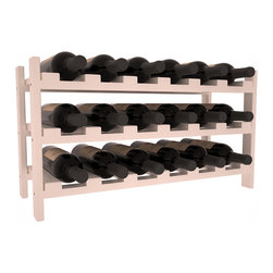 Wine Racks America - 18 Bottle Stackable Wine Rack in Pine, White Wash Stain + Satin Finish - Expansion to the next level! Stack these 18 bottle kits as high as the ceiling or place a single one on a counter top. Designed with emphasis on function and flexibility, these DIY wine racks are perfect for young collections and expert connoisseurs.