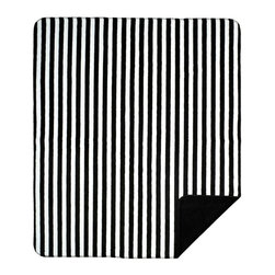 Throw Blanket Denali Black & White Stripe/Black - Denali micro plush throws are considered the Cadillac of throws due to their rich colors and soft feel. These throws are softer and warmer than fleece.