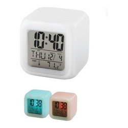 Kito - 3 Inch LCD Time, Date, Day and Temperature Mood Light Alarm Clock - This gorgeous 3 Inch LCD Time, Date, Day and Temperature Mood Light Alarm Clock has the finest details and highest quality you will find anywhere! 3 Inch LCD Time, Date, Day and Temperature Mood Light Alarm Clock is truly remarkable.