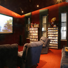 Contemporary Home Theater by Dan and Hila Israelevitz- Architects