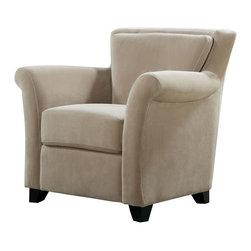 Monarch Specialties - Monarch Specialties I 8121 Beige Velvet Accent Chair - Accent Chair (1)