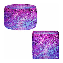 DiaNoche Designs - Ottoman Foot Stool  - Radiant Orchid Galaxy - Lightweight, artistic, bean bag style Ottomans. You now have a unique place to rest your legs or tush after a long day, on this firm, artistic furtniture!  Artist print on all sides. Dye Sublimation printing adheres the ink to the material for long life and durability.  Machine Washable on cold.  Product may vary slightly from image.