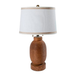 Turned Coconut Wood Table Lamps These Solid Hand Turned