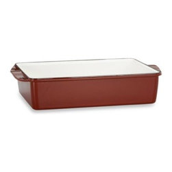 Mario Batali - Mario Batali by Dansk Classic Deep Lasagna Roaster - Mario Batali Classic Cookware allows even distribution of heat without hot spots and excellent heat retention. Durable enamel on cast iron requires no seasoning and is easy to clean.