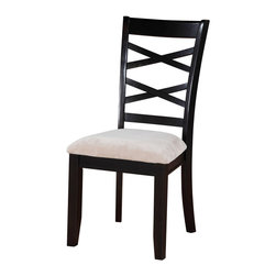Standard Furniture - Standard Furniture Epiphny Side Chair in Dark Java Brown (Set of 2) - Smooth transitional styling makes epiphany dining a great fit for today's casual living home.