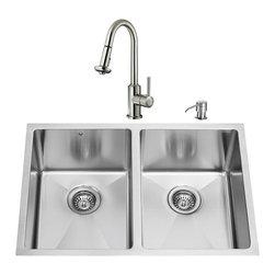 VIGO Industries - VIGO Undermount Stainless Steel Kitchen Sink, Faucet, Two Grids, Two Strainers a - VIGO keeps your needs in mind when it comes to kitchen essentials.