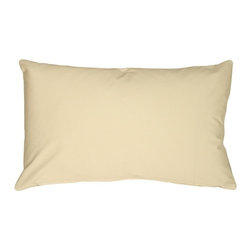 Pillow Decor - Pillow Decor - Caravan Cotton Cream 12 x 19 Throw Pillow - Bold and beautiful, the Caravan Cotton 12 x 20 Throw Pillows are the ideal pillows for adding a simple splash of color to your decor. With 3% spandex added to improve durability and wash ability, this soft cotton pillow will provide long lasting comfort.