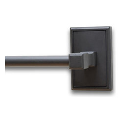 "Residential Essentials - Black Hamilton 24"" Towel Bar(RE2524BK) - Black Hamilton 24"" Towel Bar"