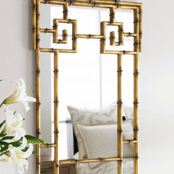 Bamboo-Look Mirror - This bamboo mirror is gorgeous! I would definitely show this baby off right in my entryway. With bamboo motifs being hits this year, you can't go wrong with anything bamboo shaped or framed.