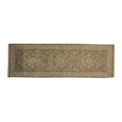 1800-Get-A-Rug - Stone Wash Taupe Oushak Runner 100% Wool Hand Knotted Rug Sh16940 - Stone Wash Taupe Oushak Runner 100% Wool Hand Knotted Rug Sh16940