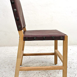 Montelargo Side Chairs - The saddle leather and wrought iron details on this dining chair are beautiful. Imagine 10 to 12 of these around a large dining room table.