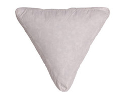 Down Etc. - 235TC Cotton-Covered Box Triangle Pillow Insert, Feathers/Down - In the mood to decorate with pillows? Our down etc 235TC Cotton-Covered Box Triangle Pillow Insert has a Knife Edge Detail and CentroClean Hypoallergenic Feathers and Down.  A favorite of hotel decorators the world over.  Machine Wash or Professionally Clean.  Tumble dry at low heat and fluff feathers after drying.