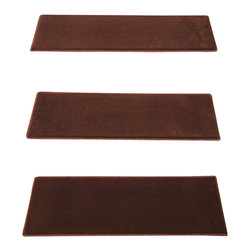"""Natural Area Rugs - """"Simi"""" Carpet Stair Treads, 9"""" x 29"""" (Set of 13) w/ 29"""" x 40"""" Landing Mat - Crafted from durable and soft Polypropylene. Helps reduce slips on your hardwood stairs. Stain & soil resistant for easy cleaning. Reduces noise and wear and tear on your hardwood stairs. Adds subtle sophistication to any decor. Serged border egdes are finished with matching colored yarn. 29"""" x 40"""" Landing Mat Sold Separately. For installation, use """"intertape"""" double-sided heavy duty carpet tape or use carpet nails/tacks.  Each set contains 13 pieces."""