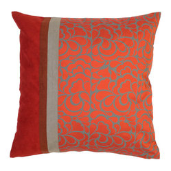 Vanessa Silk Pillow Cover, Red