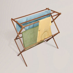 Bamboo Drying Rack - Do you need a place to hang your hand washables or wet bathing suits? This is it. It also folds up for easy storage.