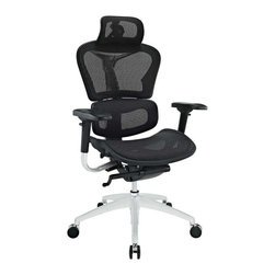 Modway - Lift Highback Office Chair in Black - Years of extensive research have paid off to develop the Lift mesh chair. Alleviate back pain with a proprietary dual-plane system that supports both the lumbar and shoulder regions. The wide angle waterfall seat pan eases under-thigh pressure while keeping weight off your lower vertebrae. Easily personalize Lift with seat depth controls that adjust to your build and posture. This model is also known and appreciated for its armrests. With full-scale mobility in all six directions, these padded supports help you position your elbows for 90 degree typing. The durable mesh seat and back is fully-breathable, keeping you climate-steady all day long. Although functionally sound and ergonomic, Lift also has a sleek and modern look to it as well. Complete with a shimmering chrome-plated metal back and base, the chair provides a wonderful blend of both distinction and comfort. Fully height adjustable with a powerful pneumatic lift, the chair pairs well with nearly all computer tables and workstations. Fitted with a formed headrest that adjusts to align with your neck, sit back while keeping your neck well supported during those long days at the office. Constructed for heavy use and superior enjoyment, this is a chair that will last you through hundreds of hours of use.
