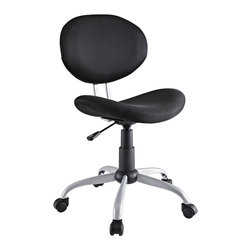 LexMod - Gina Office Chair in Black - Make your office space work for you without the work. Let the simple sleek design guide you through a comfortable day at the office.