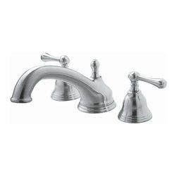 Pegasus - Pegasus F Shape Spout 2-Handle Deck-Mount Roman Tub Faucets in Brushed Nickel - F Shape Spout 2-Handle Deck-Mount Roman Tub Faucet in Brushed Nickel