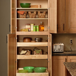 Pantry Cabinet | CliqStudios.com - Utility cabinets show their versatility for storing both large and small items. Imagine gaining 17.5 to 48 additional cubic feet of storage in your kitchen. You can configure your utility to work hard for you utilizing full depth shelves, full depth roll-out trays, or any combination of the two.