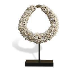Interlude - Milne Bay Shell Necklace - Jewelry as art the Milne Bay Shell Necklace.  Celebrating the natural materials and tradition of Southeast Asia.