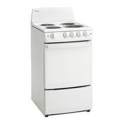 "Danby - Danby 20"" White Electric Stove - Features:"